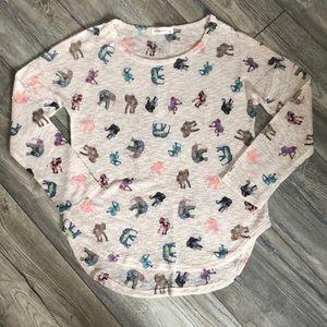 Tops - Cute colourful elephant print top